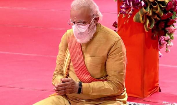 Narendra Modi becomes first prime minister to visit Ram Janmabhoomi Ayodhya Ram temple bhoomi pujan