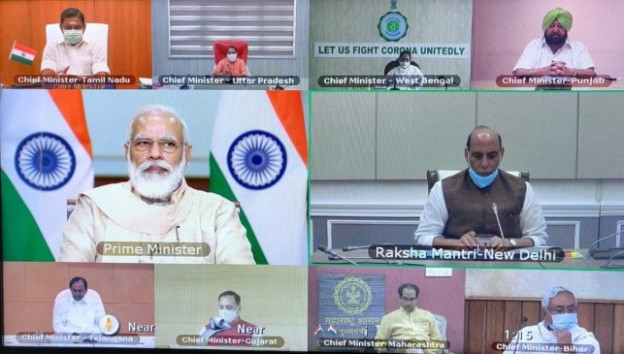 PM Narendra Modi meeting with Chief Ministers of 10 states discuss coronavirus related situation